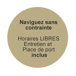 Liberty Pass de Passion Boat - Naviguer sans contrainte : Horaires libres, Entretien et place de port inclus