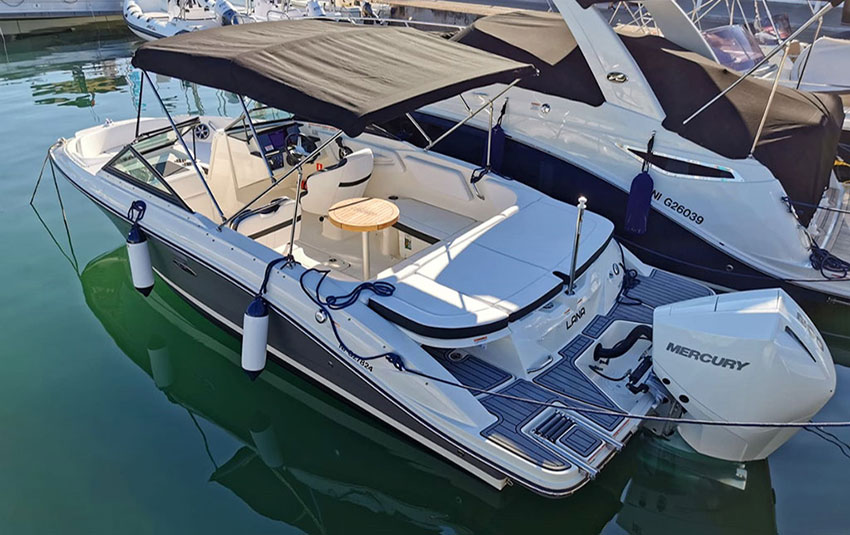 Sea Ray 210 SPX en Liberty Pass illimité Mandelieu- Passionboat